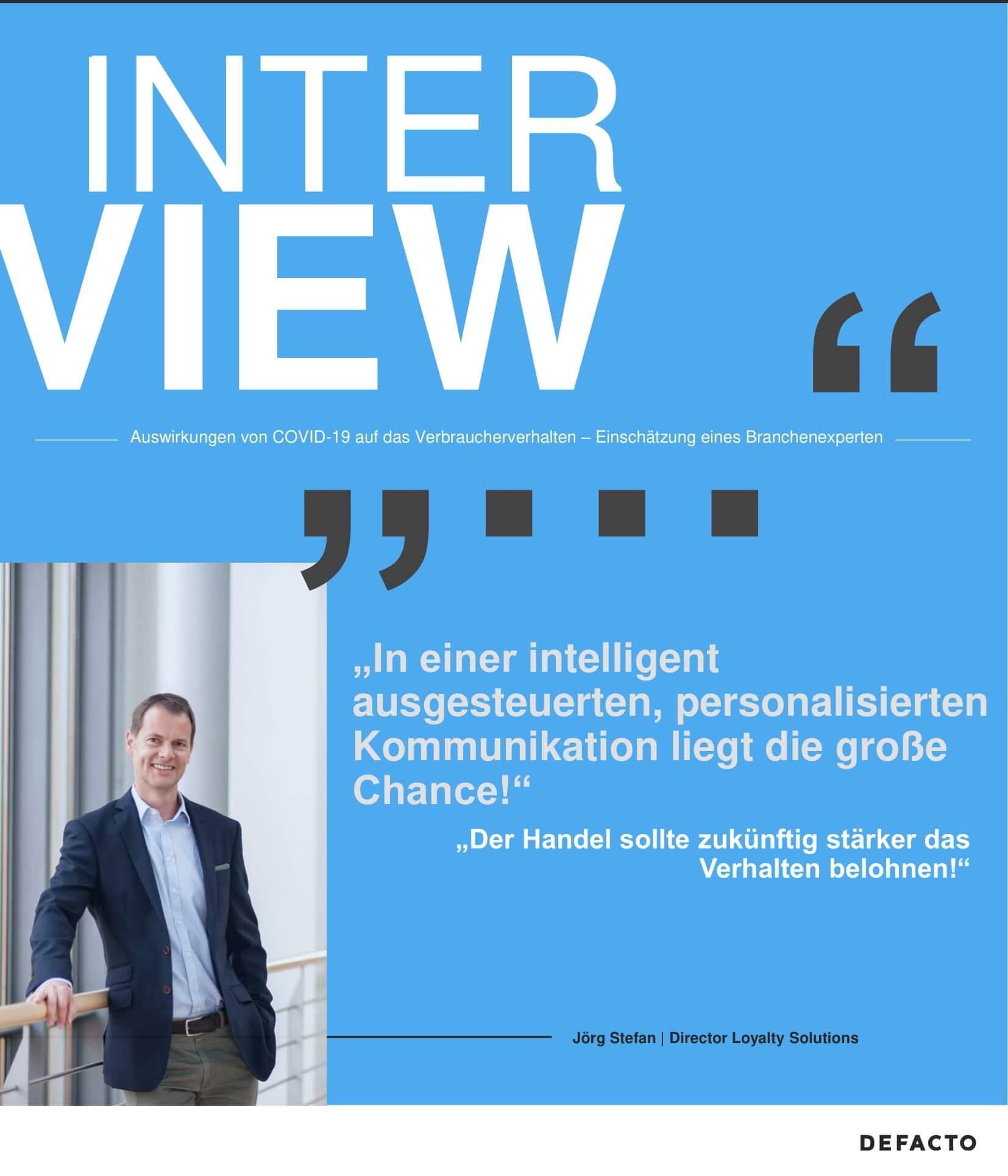 Interview zu Auswirkungen von COVID-19 auf Verbrauchverhalten mit Jörg Stefan