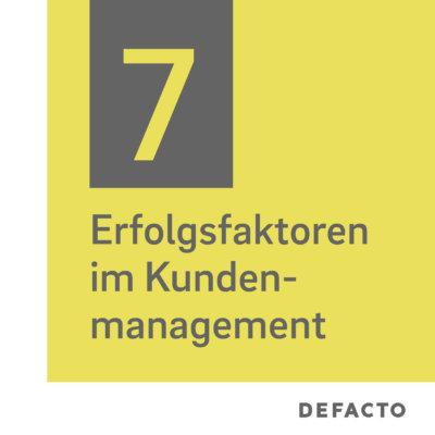 Erfolgsfaktoren im Kundenmanagement